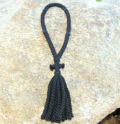 50-Knot Russian Prayer Rope - 3 ply with Black Beads