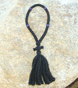 50-Knot Russian Prayer Rope - 3 ply with Purple Beads