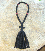 50-Knot Russian Prayer Rope - 3 ply with Wooden Beads