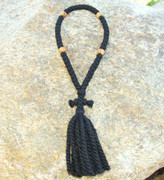 50-Knot Russian Prayer Rope - 3 ply with Olive Wood Beads