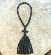 50-Knot Russian Prayer Rope - 3 ply with Black Wood Beads