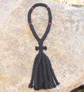 50-Knot Russian Prayer Rope - 4 ply with Red Beads