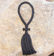 50-Knot Russian Prayer Rope - 4 ply with Black Beads