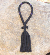 50-Knot Russian Prayer Rope - 4 ply with Purple Beads