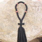50-Knot Russian Prayer Rope - 4 ply with Wooden Beads