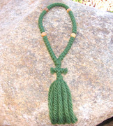 50-Knot Russian Prayer Rope - 4 ply Pine Green