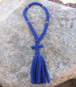 50-Knot Russian Prayer Rope - 4 ply Royal Blue