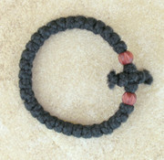 33-Knot Bracelet with Cross Bar - 2 ply with Wooden Beads