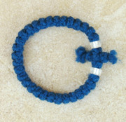 33-Knot Bracelet with Cross Bar - 2 ply Cobalt Blue