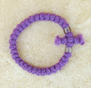 33-Knot Bracelet with Cross Bar - 2 ply Lavender
