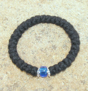 33-Knot Bracelet with Accents - 3 ply with Blue Bead