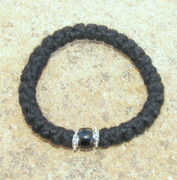 33-Knot Bracelet with Accents - 3 ply with Black Bead