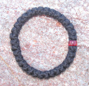 33-Knot Bracelet with Single Bead - 2 ply with Red Bead