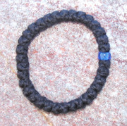 33-Knot Bracelet with Single Bead - 2 ply with Blue Bead