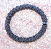 33-Knot Bracelet with Single Bead - 2 ply with Black Bead