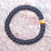 33-Knot Bracelet with Single Bead - 2 ply with Olive Wood Bead