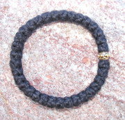33-Knot Bracelet with Single Bead - 2 ply with Gold Bead