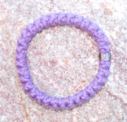 33-Knot Bracelet with Single Bead - 2 ply Lavender
