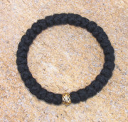 33-knot Bracelet with Single Bead - 3 ply