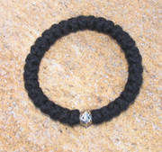 33-knot Bracelet with Single Bead - 3 ply