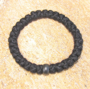 33-Knot Bracelet with Single Bead - 4 ply with Black Wood Bead