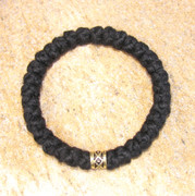 33-Knot Bracelet with Single Bead - 4 ply with Gold Metallic Bead