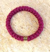 33-Knot Bracelet with Single Bead - 4 ply Burgundy