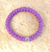 33-Knot Bracelet with Single Bead - 4 ply Lilac