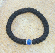 33-Knot Bracelet with Accents - 4 ply with Blue Bead