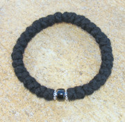 33-Knot Bracelet with Accents - 4 ply with Black Bead