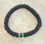 33-Knot Bracelet with Accents - 4 ply with Green Bead