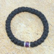 33-Knot Bracelet with Accents - 4 ply with Purple Bead
