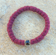 33-Knot Bracelet with Accents -  4 ply Burgundy