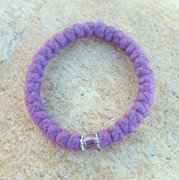 33-Knot Bracelet with Accents -  4 ply Lilac