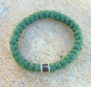 33-Knot Bracelet with Accents -  4 ply Pine Green