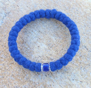 33-Knot Bracelet with Accents -  4 ply Royal Blue