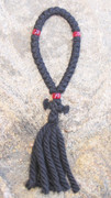 33-Knot Russian Prayer Rope - 4 ply with Red Beads