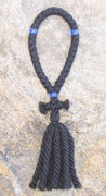33-Knot Russian Prayer Rope - 4 ply with Blue Beads