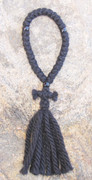33-Knot Russian Prayer Rope - 4 ply with Black Beads