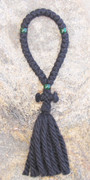 33-Knot Russian Prayer Rope - 4 ply with Green Beads