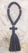 33-Knot Russian Prayer Rope - 4 ply with Puple Beads