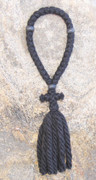 33-Knot Russian Prayer Rope - 4 ply with Black Wood Beads