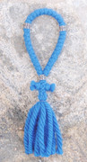 33-Knot Russian Prayer Rope - 4 ply Adriatic Sea Blue