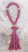 33-Knot Russian Prayer Rope - 4 ply Burgundy