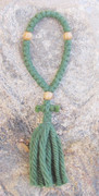 33-Knot Russian Prayer Rope - 4 ply Pine Green