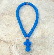 50-Knot Greek Prayer Rope - 4 ply Adriatic Sea Blue