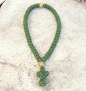 50-Knot Greek Prayer Rope - 4 ply Pine Green