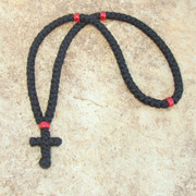 100-Knot Greek Prayer Rope - 3 ply with Red Beads