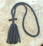 100-Knot Russian Prayer Rope - 4 ply with Black Beads