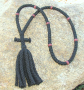 100-Knot Russian Prayer Rope - 4 ply with Wooden Beads